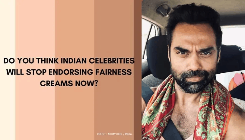 Abhay Deol All lives matter black lives matter fairness cream