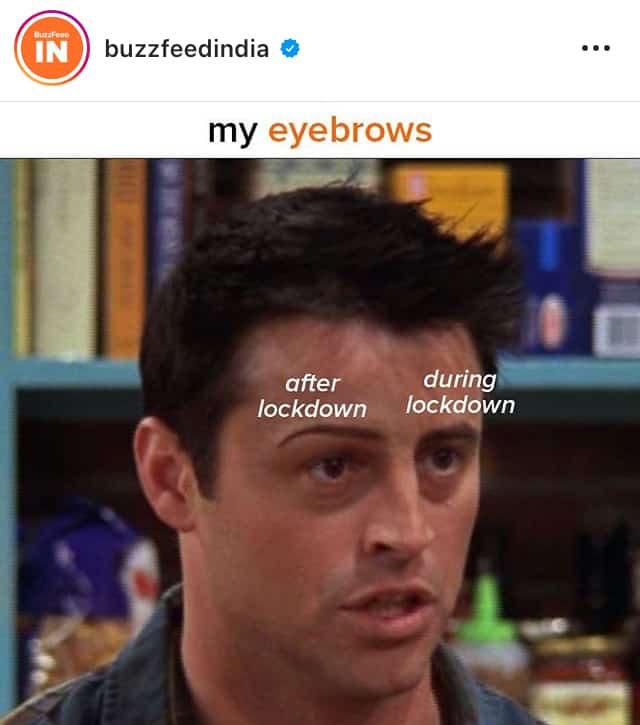 meme 5- buzzfeed - eyebrows