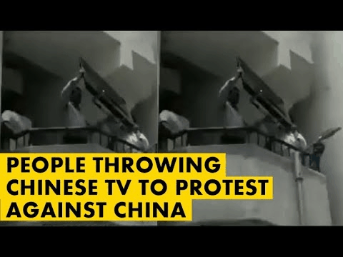 boycott china statement 1 - Nationalism through the breaking of Chinese manufactured electronics.