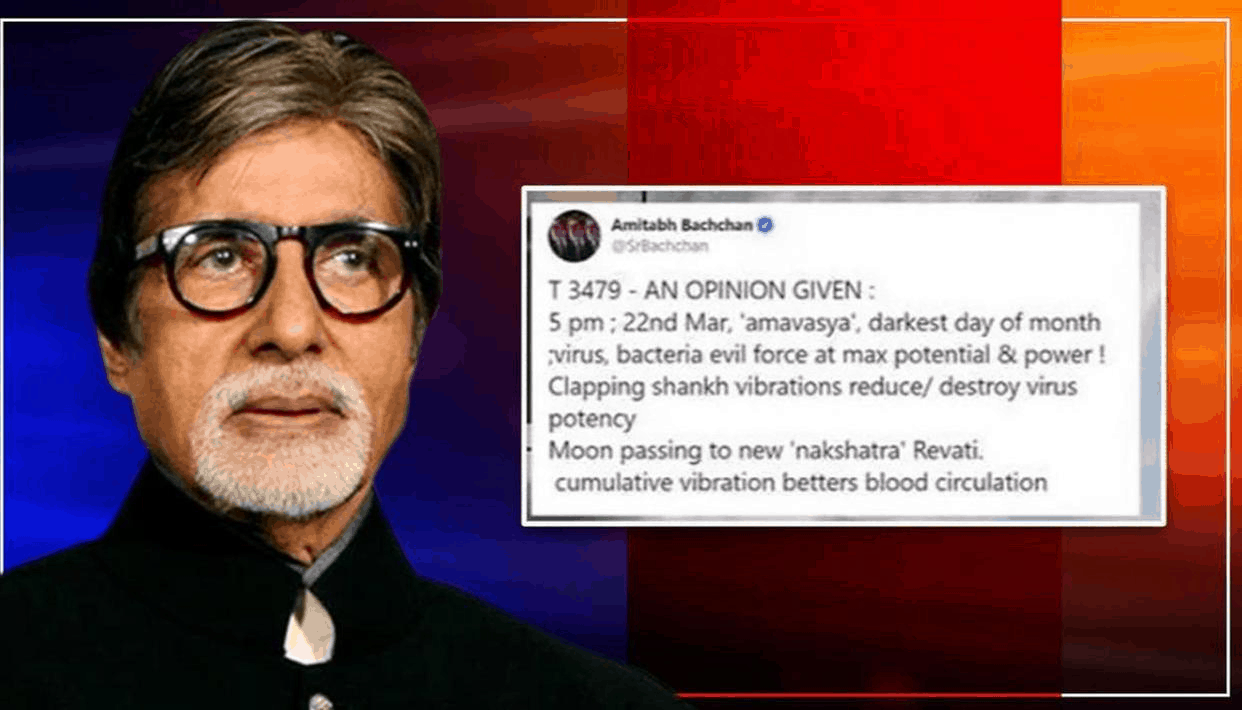 statement 4- Amitabh Bachchan and his take on how clapping can kill the virus