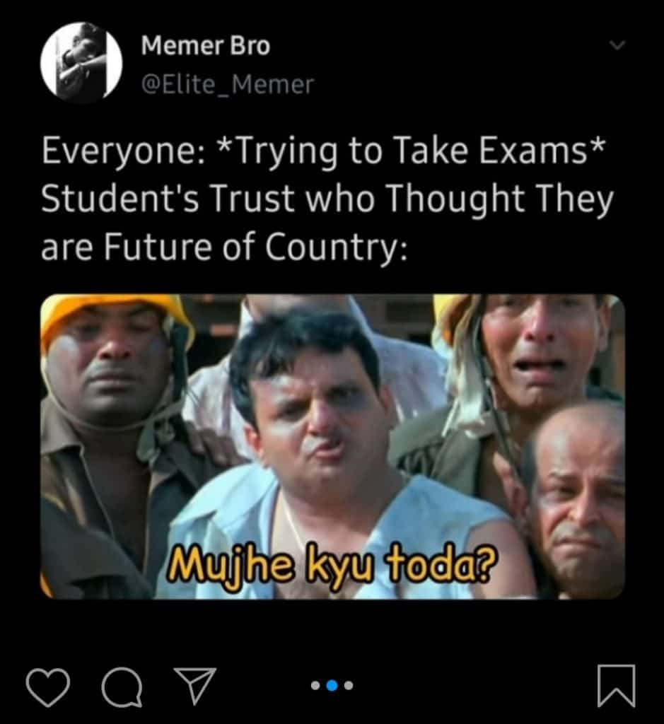 Exams for final year(meme6)
