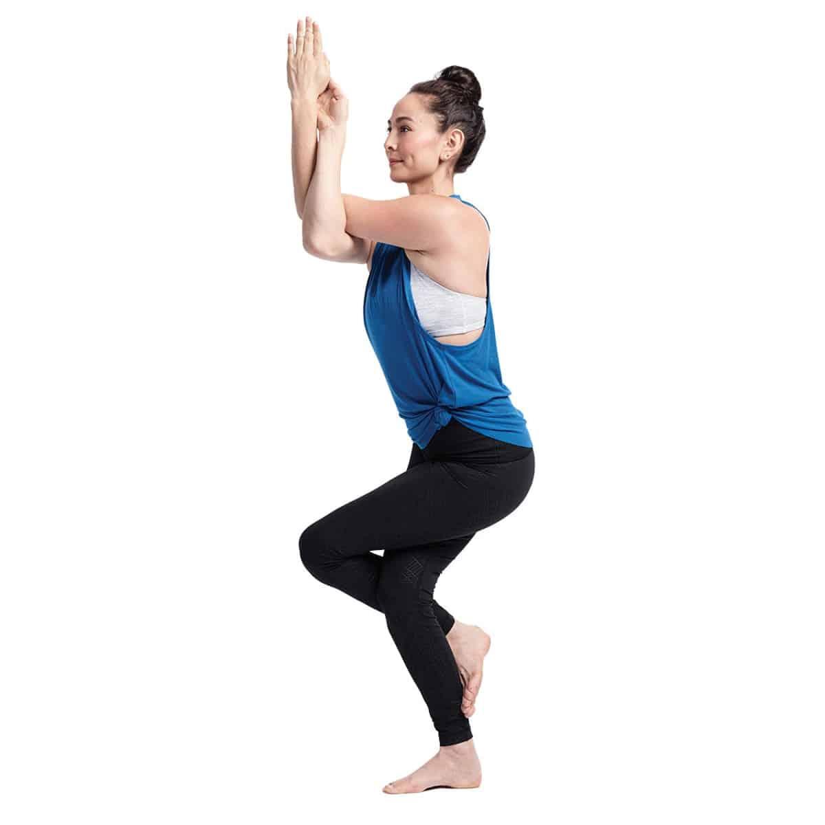Yoga asanas 1- Garudasana