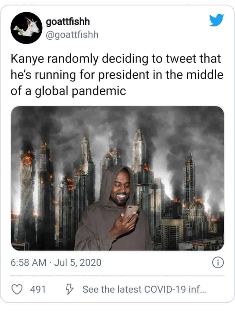 kanye wast(the random tweeting meme(
