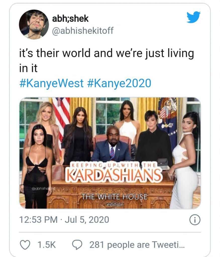 kanye west(keeping up with the Kardashians)
