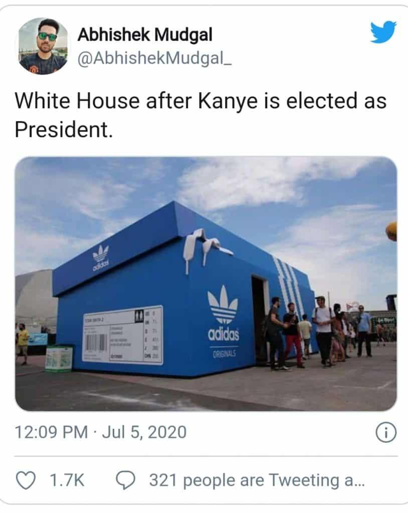 kanye west(the adidas meme)