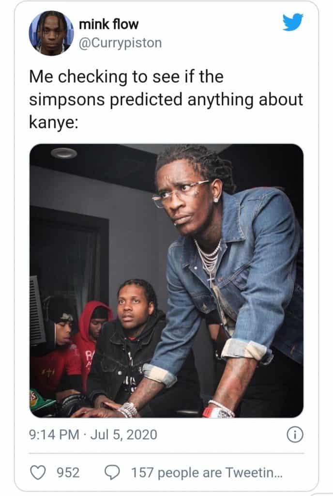 kanye west(the simpson meme)