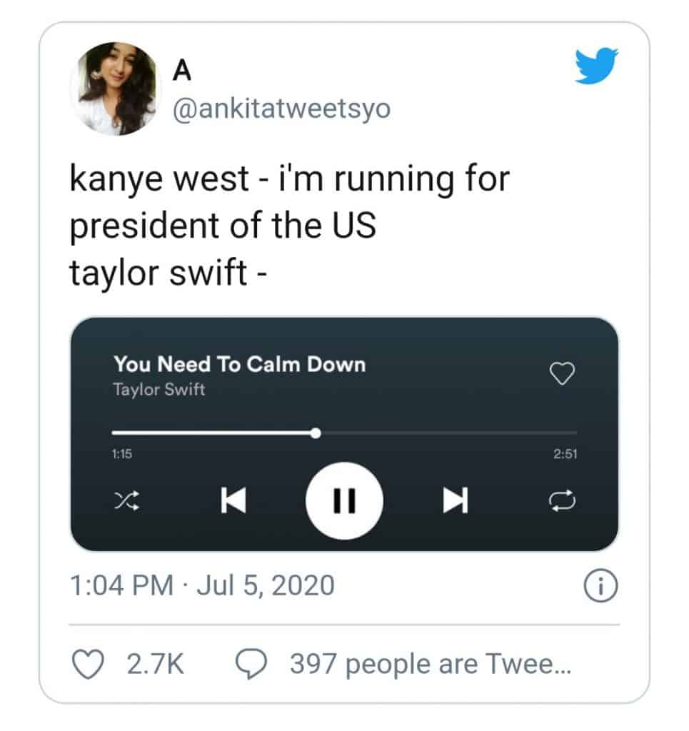 kanye west(you need to calm down meme)