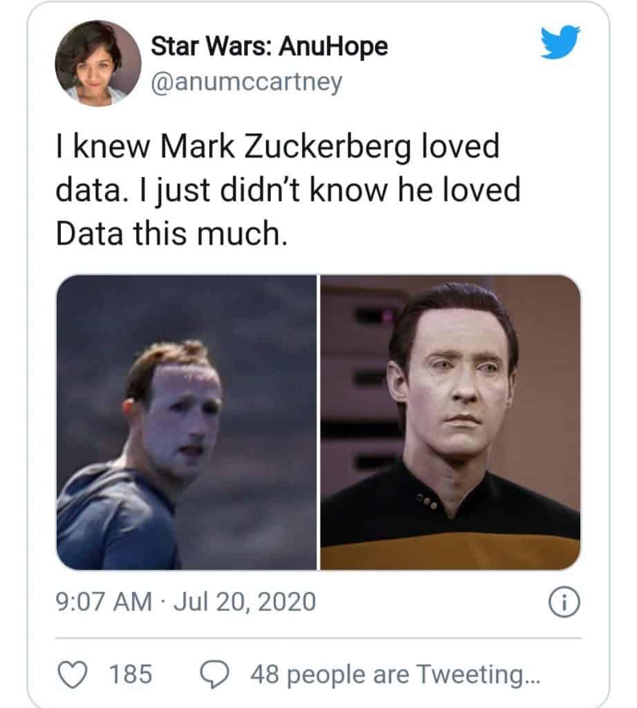 Mark Zuckerberg Surfing DATA