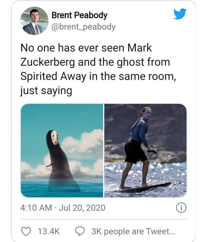 Mark Zuckerberg Surfing (ghost)