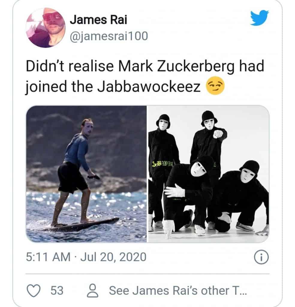 Mark Zuckerberg Surfing (jabbawockeez)