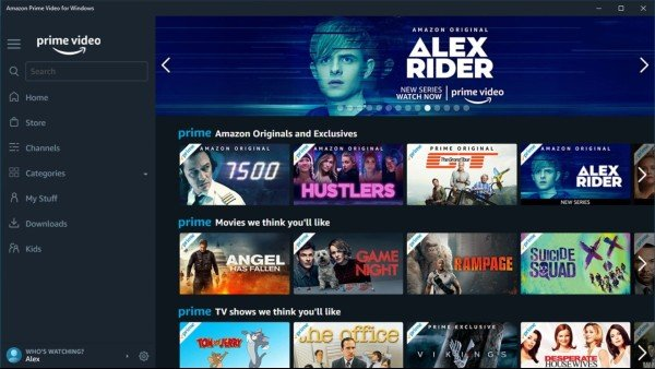 movie streaming apps(Amazon prime)
