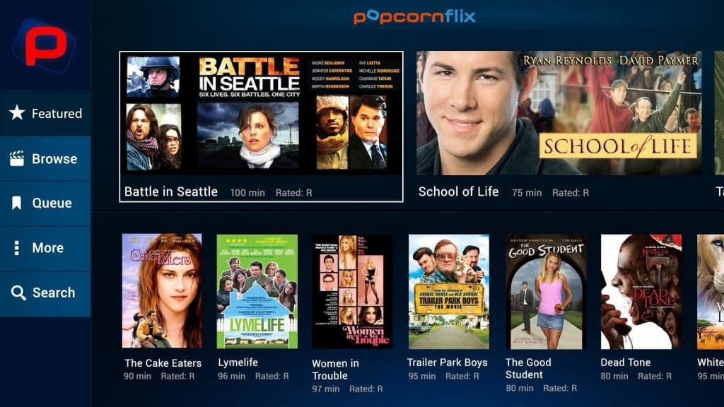 movie streaming apps(popcornflix)