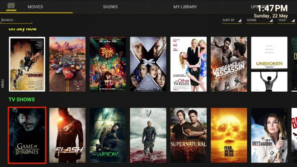 movie streaming apps(showbox)