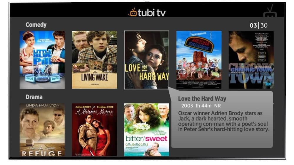 movie streaming apps(tubi-tv)