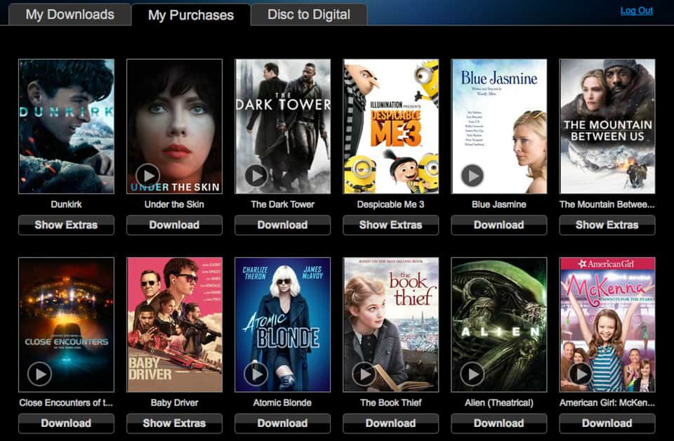 movie streaming apps(vudu)