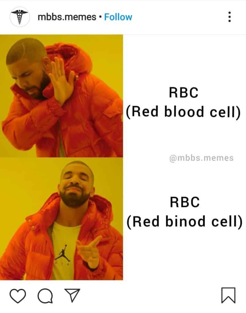 everything is binod(medical memes on binod