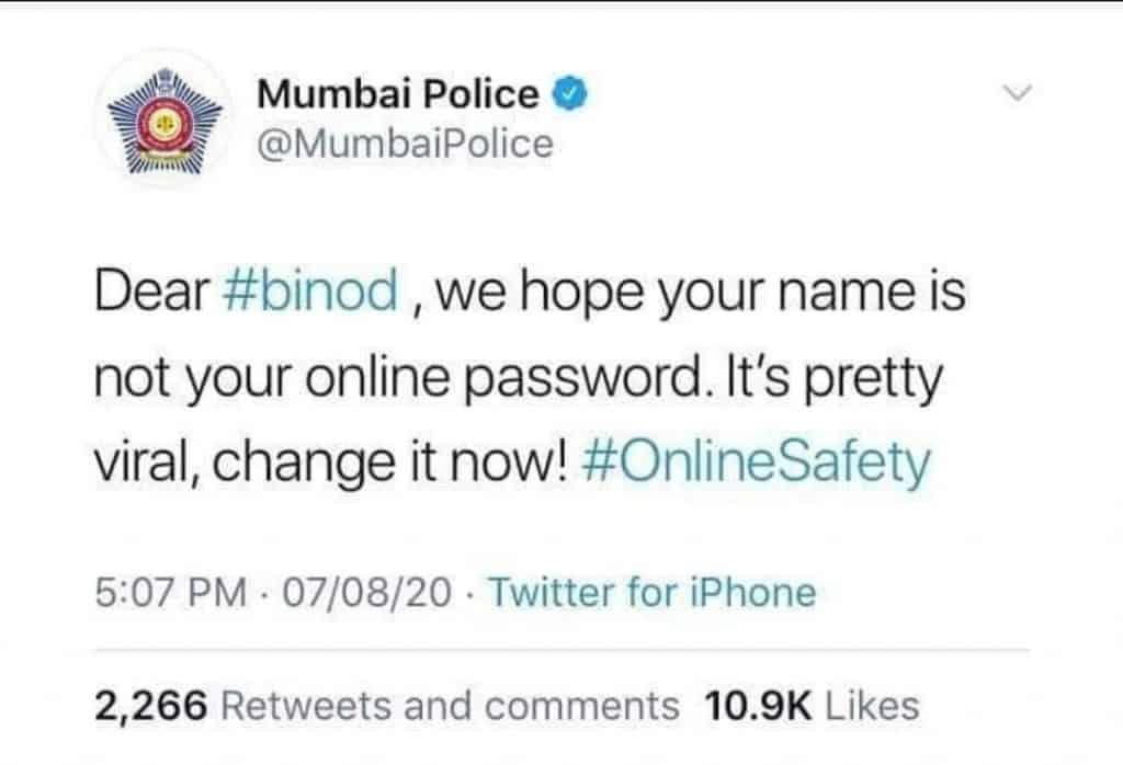everything is binod(mumbai police making meme