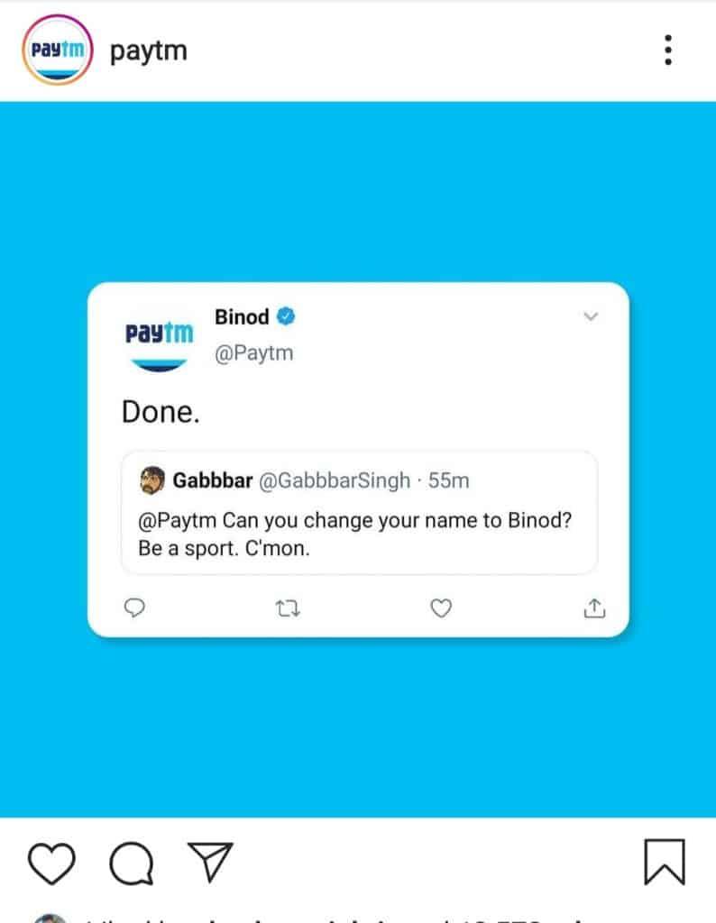 everything is binod(paytm making meme