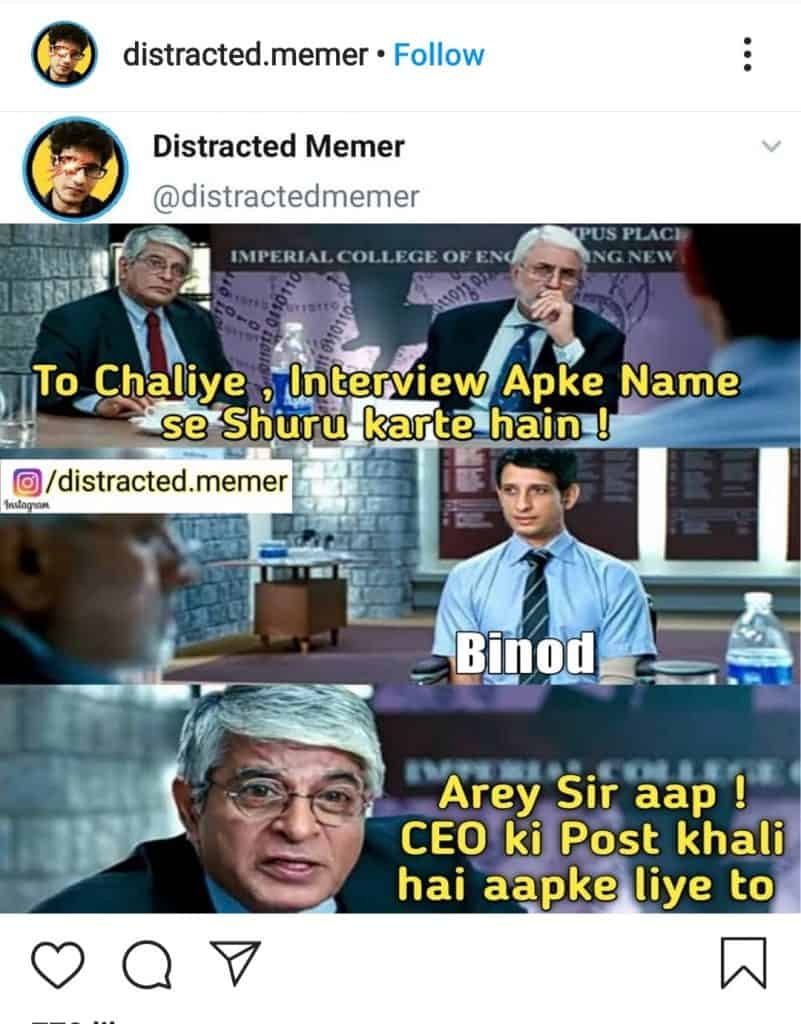 everything is binod(the three idiot meme in binod style