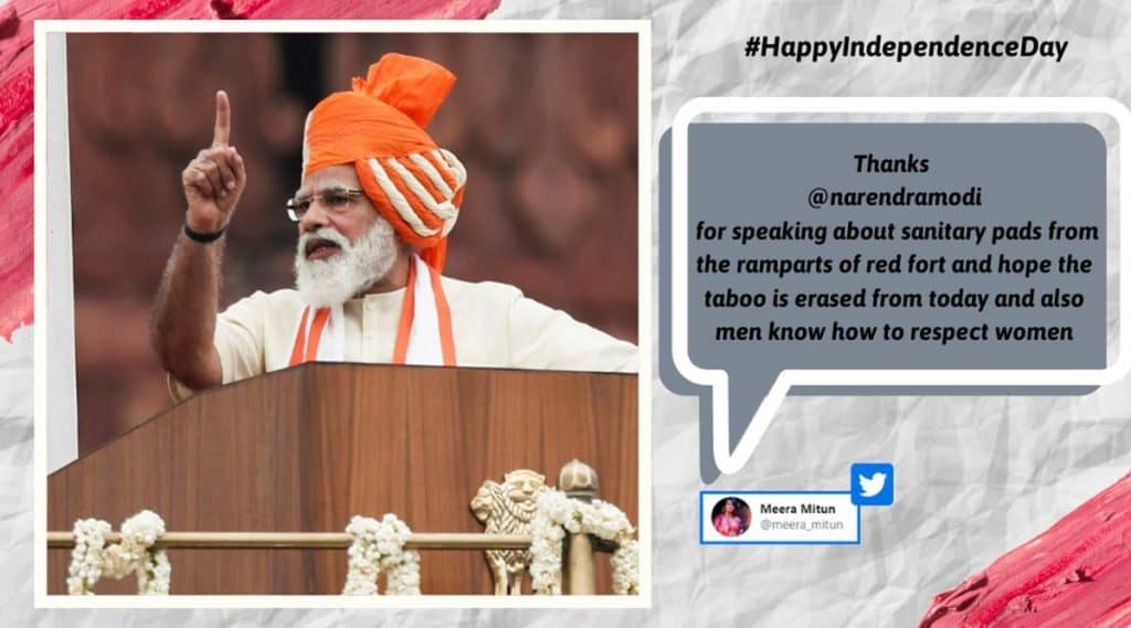 pm modi breaks taboo(giving speech