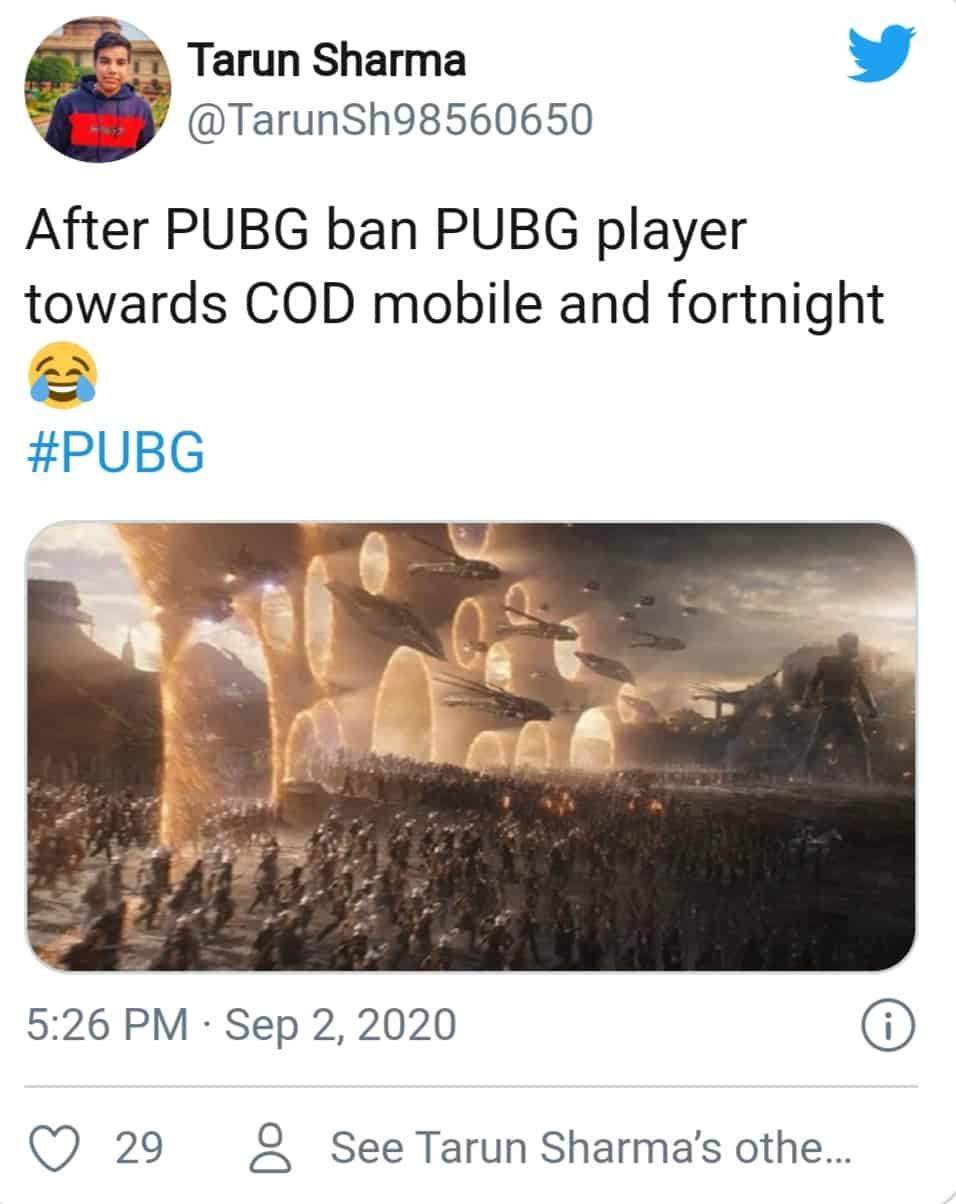 PUBG ban (pubg players rushing towards other games