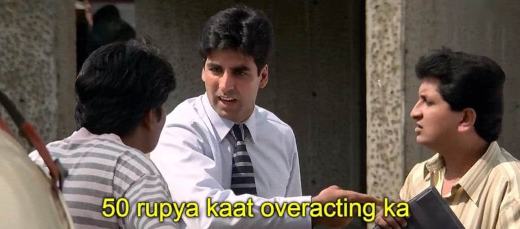 hera pheri series as meme template (50 rupeya kaat
