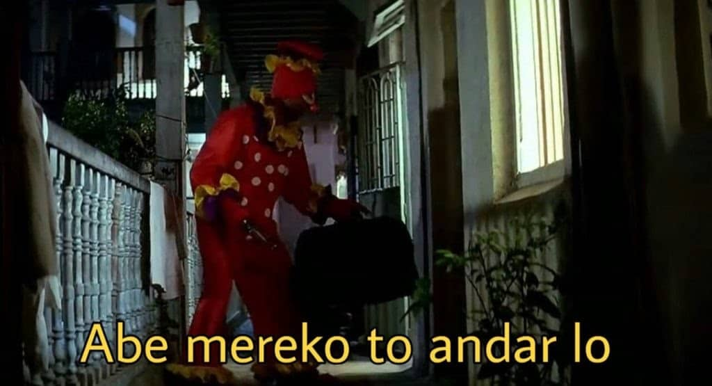 hera pheri series as meme template (abey merko to andar lo