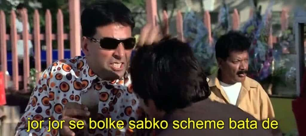 hera pheri series as meme template (jor jor se bolke