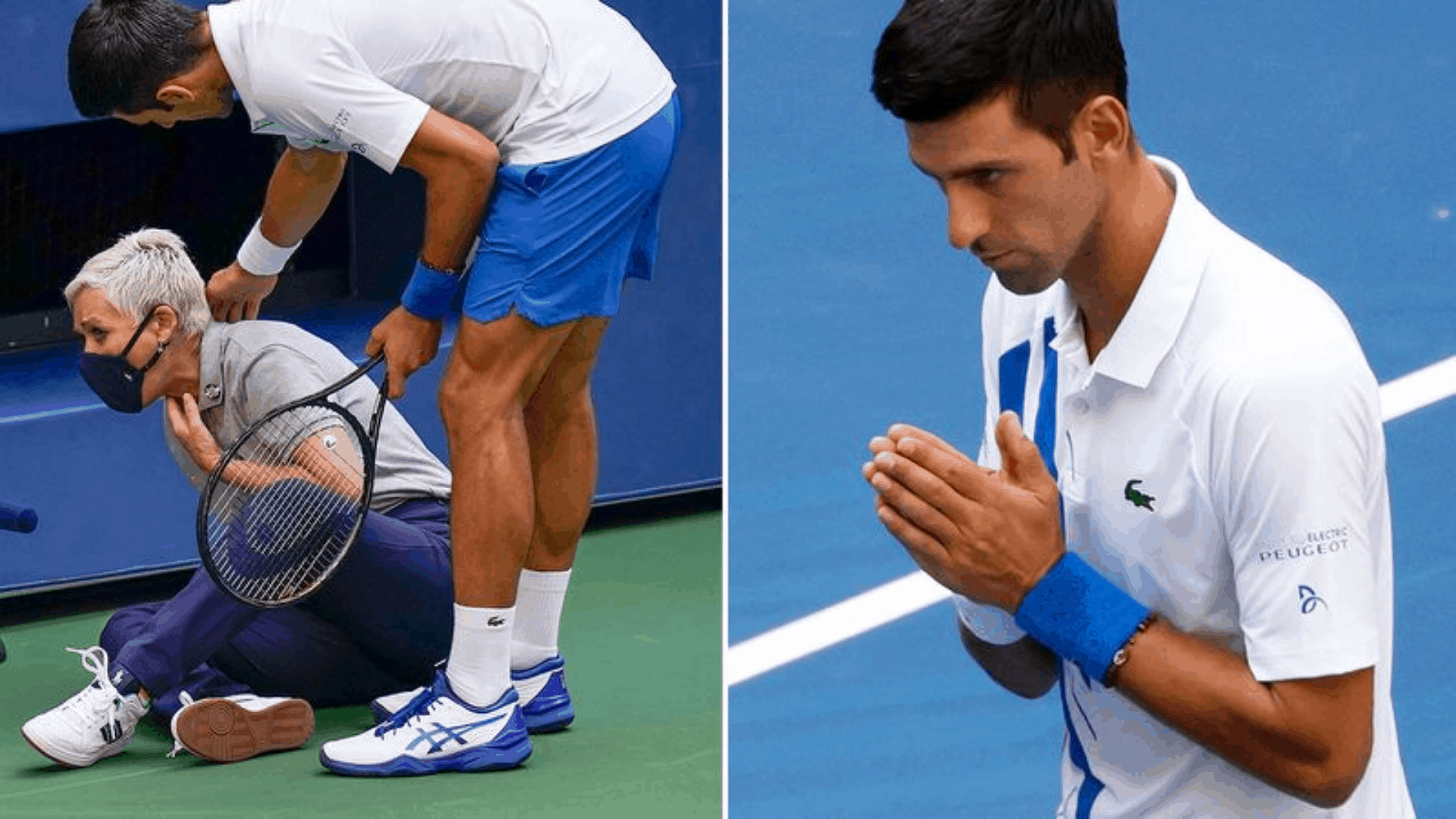 Novak Djokovic Hits Line Judge In The Throat