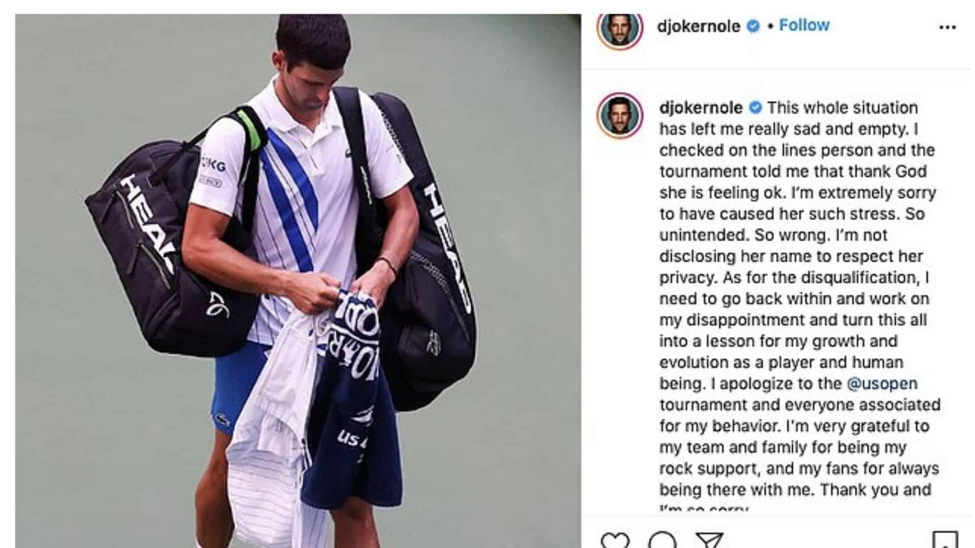 Novak Djokovic Apology