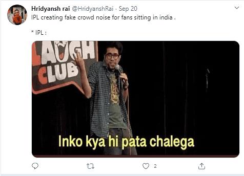 IPL Fake Crowd Memes