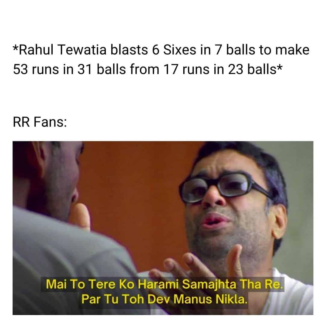 Top Memes On Tewatia's Blistering Performance